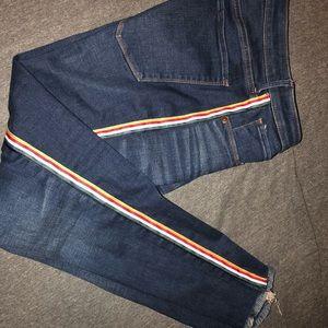 Abercrombie ribbon stripe jeans